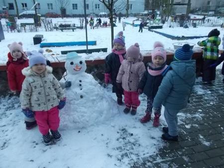 Zimowo w naszym przedszkolu