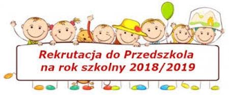 Rekrutacja do przedszkoli 2018/2019