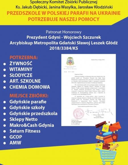 Zbiórka darów dla przedszkola na Ukrainie