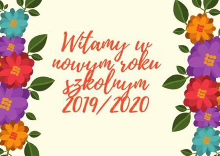 Witamy w nowym roku szkolnym 2019/2020