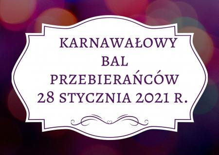 Bal karnawałowy 2021